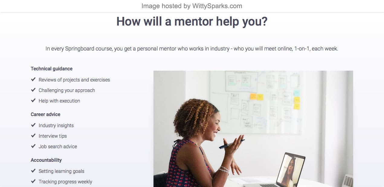 Springboard - How will a mentor helps you