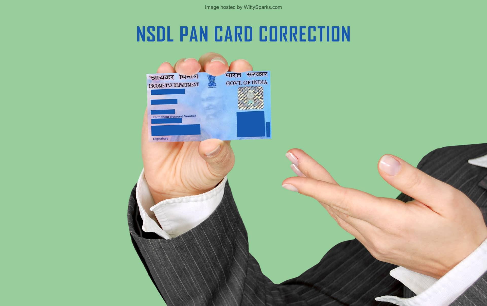 utiitsl nsdl pan card corrections