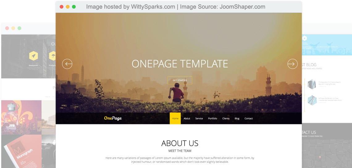 Onepage - Joomla Template