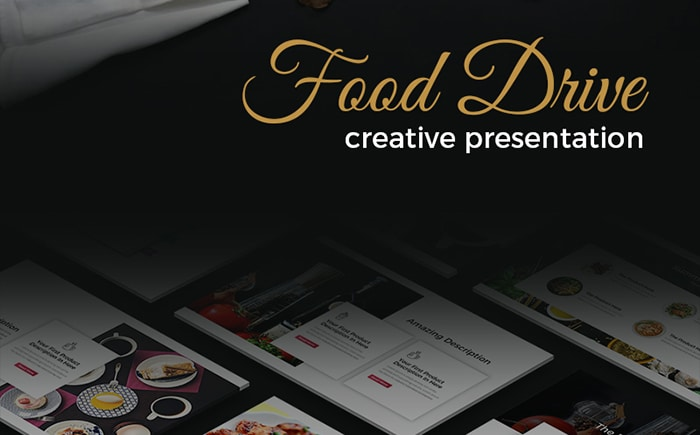 Food Drive - Creative PowerPoint Template