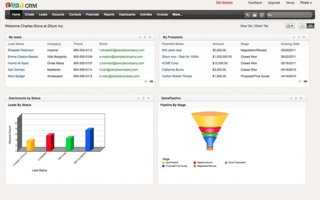 Zoho CRM - Business Management Software