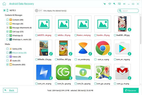 Preview Recover Digital Photos Android