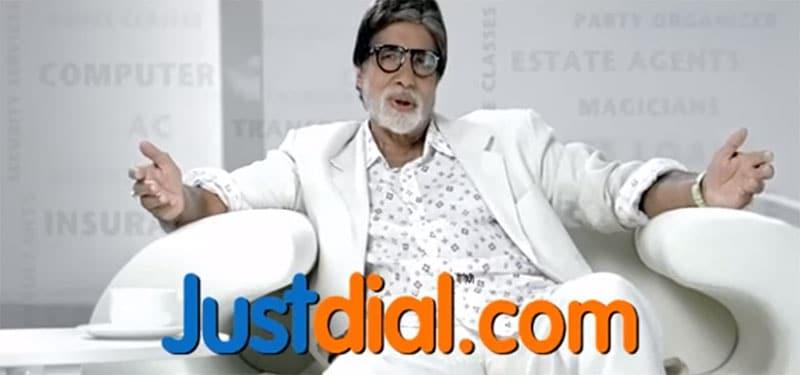 Justdial - Amitabh Bachchan