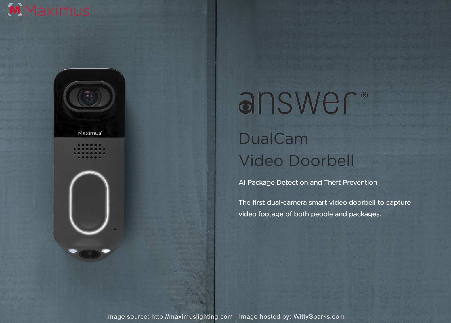 Maximus Lighting - DualCam Video Doorbell