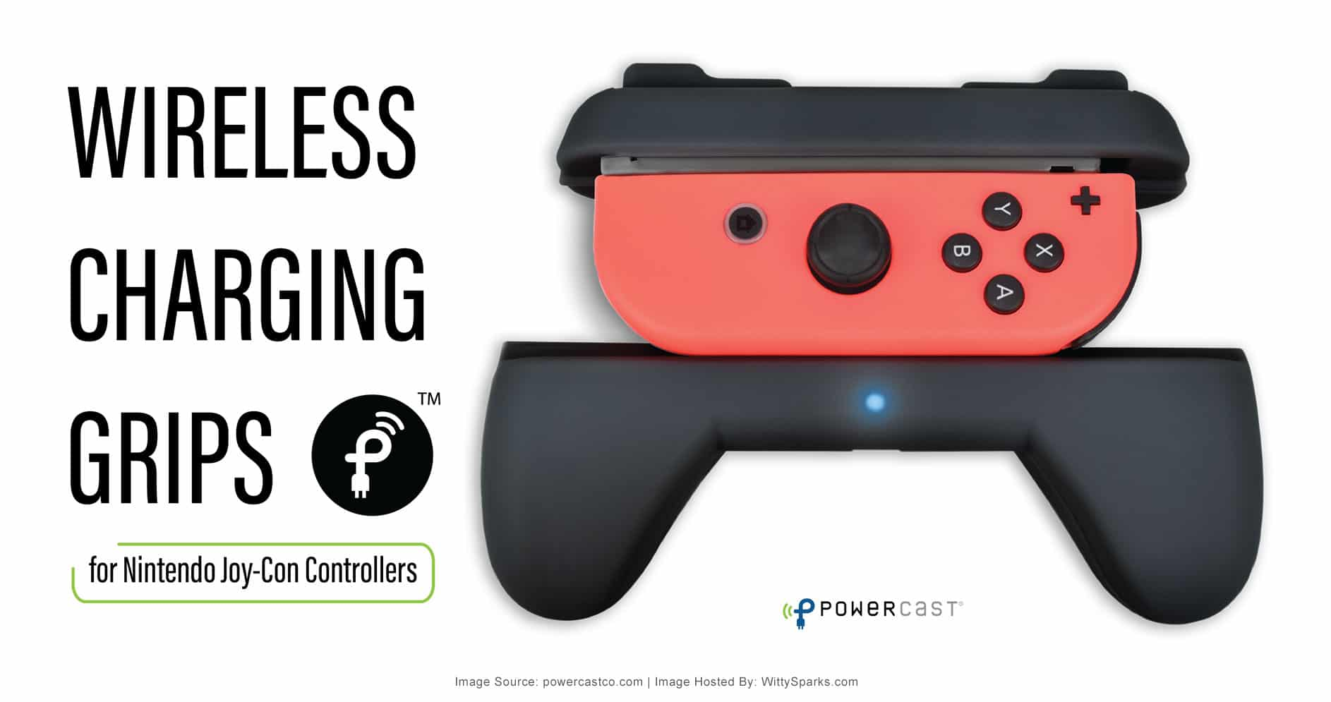 Wireless Charging Grips for Nintendo Joy-Con Controllers